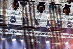 Stage concert lighting equipment Royalty Free Stock Photos