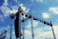 Stage construction for concert Royalty Free Stock Photography
