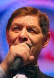 On stage, the crowd favorite, a sparkling singer, singer Edward Hil ( Mr. Trololo ). Stock Image