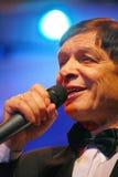 On stage, the crowd favorite, a sparkling singer, singer Edward Hil ( Mr. Trololo ). Royalty Free Stock Image
