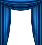 Stage curtain. With light and shadow Royalty Free Stock Photo
