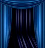 Stage curtain. With light and shadow Stock Photo