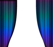 Stage curtain. With light and shadow Royalty Free Stock Images