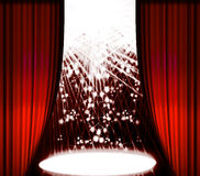 Stage curtain stock illustration