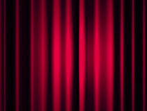 Stage curtain. With light and shadow Stock Image