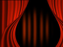 Stage curtain. With light and shadow Royalty Free Stock Photography
