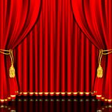 Stage Curtain Stock Images
