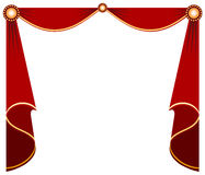 Stage curtain. Red theater curtain for designing Stock Images