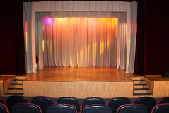 Stage curtain. Stage curtain with arch lights and shadows Stock Photos