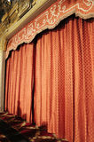 Stage curtain closed before the show Royalty Free Stock Photos