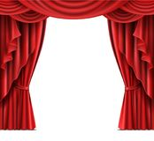 Stage curtain with copyspace realistic vector Royalty Free Stock Photos