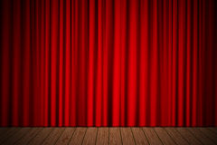 Stage with curtain Stock Photo