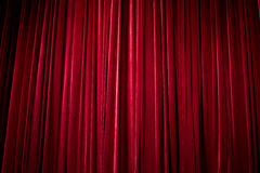 The stage curtain. The huge velvet stage curtain Royalty Free Stock Photo