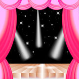 Stage curtain and lighting on stage vector Stock Image