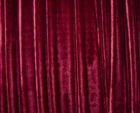 Stage curtain. Old red stage curtain (as a drapery background Stock Photos