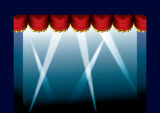 Stage Curtain opened Royalty Free Stock Image