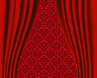 Stage curtain pattern Royalty Free Stock Photo