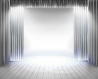 Stage curtain. Vector illustration. Royalty Free Stock Photo