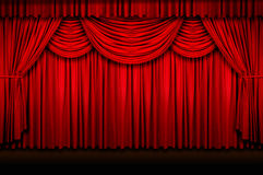 Stage Curtains Stock Image