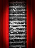 Stage Curtains. Red velvet theater stage curtains Stock Image