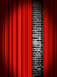 Stage Curtains. Red velvet theater stage curtains Stock Images