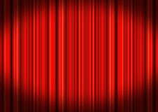 Stage Curtains. Red velvet theater stage curtains Royalty Free Stock Photography