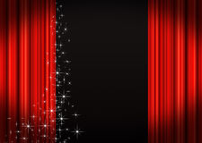Stage Curtains. Red velvet theater stage curtains Royalty Free Stock Photos