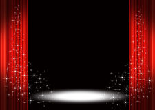 Stage Curtains vector illustration