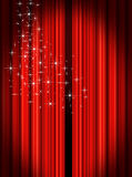 Stage Curtains. Red velvet theater stage curtains Stock Photography