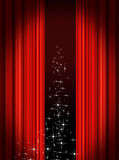 Stage Curtains. Red velvet theater stage curtains Royalty Free Stock Images