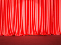 Stage curtains Royalty Free Stock Images