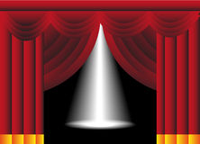 Stage With Curtains And Spotlight Royalty Free Stock Images