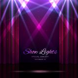 Stage with curtains and spotlights. Vector illustration Stock Image
