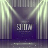 Stage with curtains in vintage colors Royalty Free Stock Image