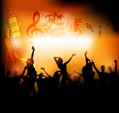 Stage with dance people background Stock Images