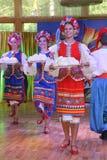 оn stage are dancers and singers, actors, chorus members, dancers of corps de ballet, soloists of the Ukrainian Cossack ensemble Stock Photo