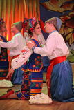 оn stage are dancers and singers, actors, chorus members, dancers of corps de ballet, soloists of the Ukrainian Cossack ensemble Stock Images