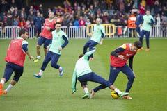 Stage de formation de FC Barcelona Image libre de droits