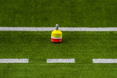 Stage de formation du football du football Le football de formation sur le lancement images stock