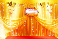 STAGE DECORATION Royalty Free Stock Photo