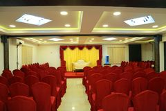 Empty Auditorium, Celebration event and wedding function stock photo