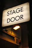 Stage door. Illuminated sign at theatre in London's West End Royalty Free Stock Image