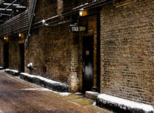 Stage Door Alley. Entrance to theatre Royalty Free Stock Photography