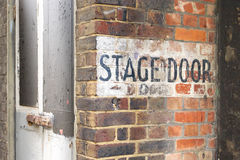 Stage Door Royalty Free Stock Image