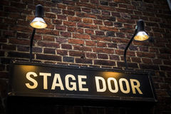 Stage door Stock Image