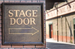 Stage door. Panel. Music hall back entrance Stock Photos