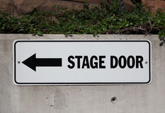 Stage Door Sign Stock Photos