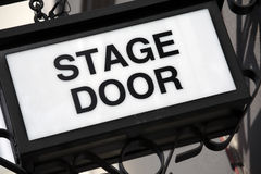 Stage Door sign, theater entrance Stock Photo