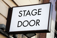 Stage door sign. At a theatrical concert hal Stock Images