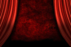 Stage Drapes With Grunge Background royalty free stock image